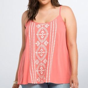Gauze Embroidered Top